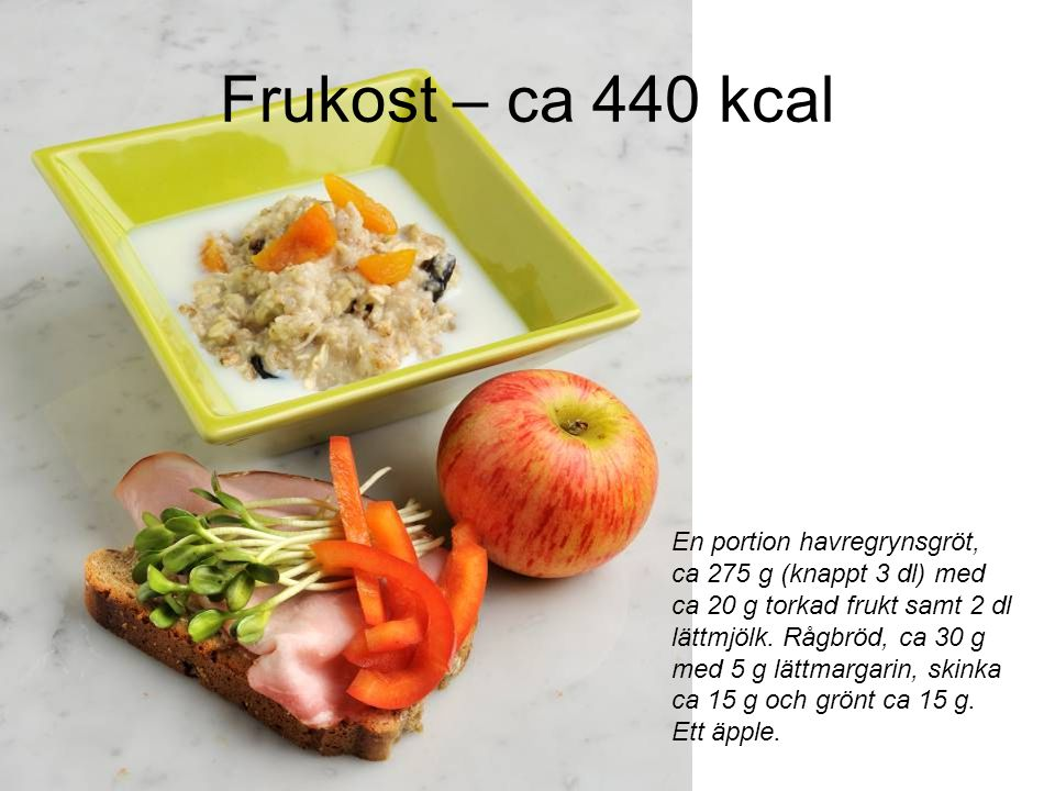 Frukost – ca 440 kcal