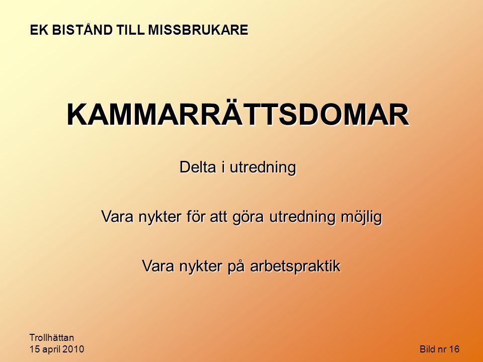EK BISTÅND TILL MISSBRUKARE