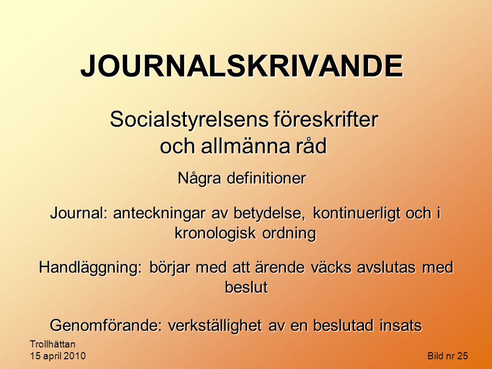 Socialstyrelsens föreskrifter och allmänna råd
