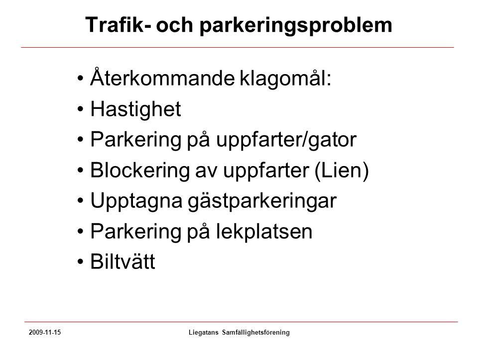 Trafik- och parkeringsproblem