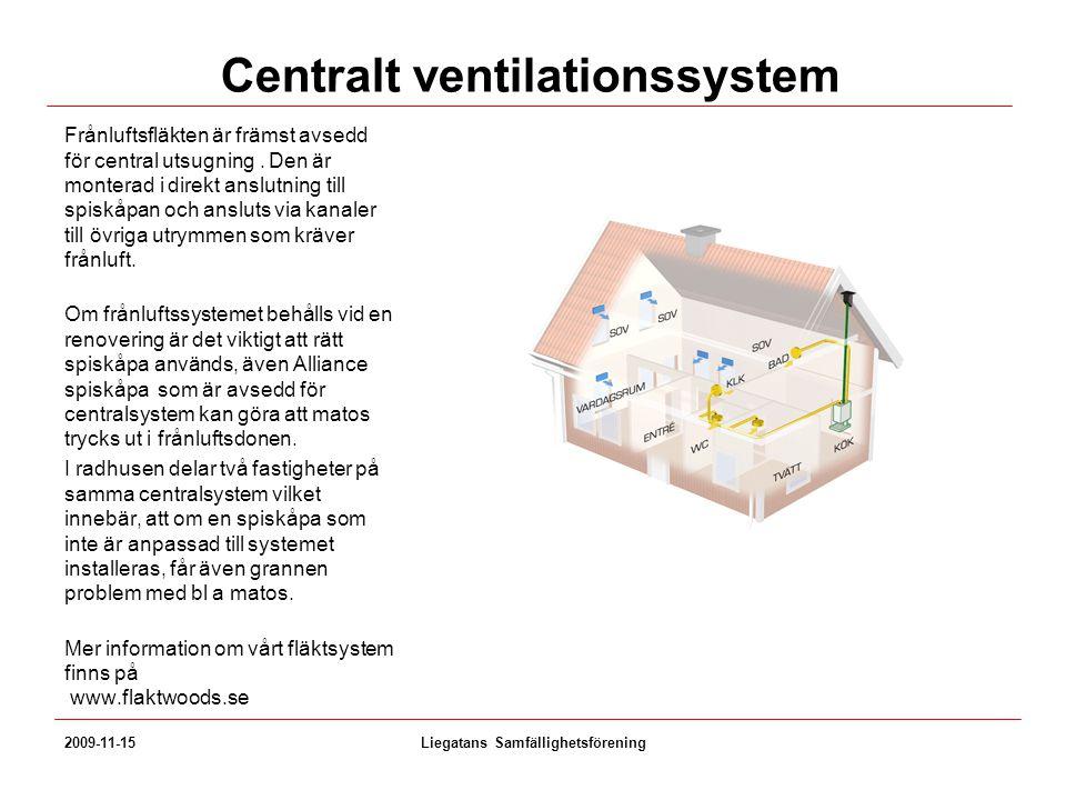 Centralt ventilationssystem