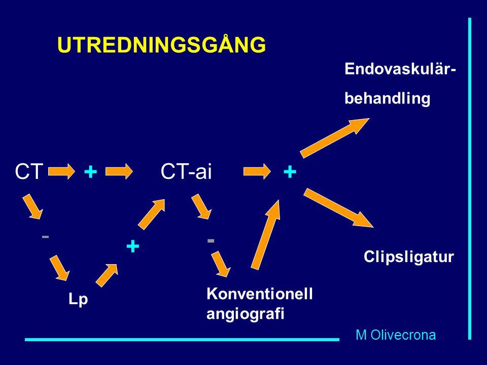 + + - - + UTREDNINGSGÅNG CT CT-ai Endovaskulär- behandling