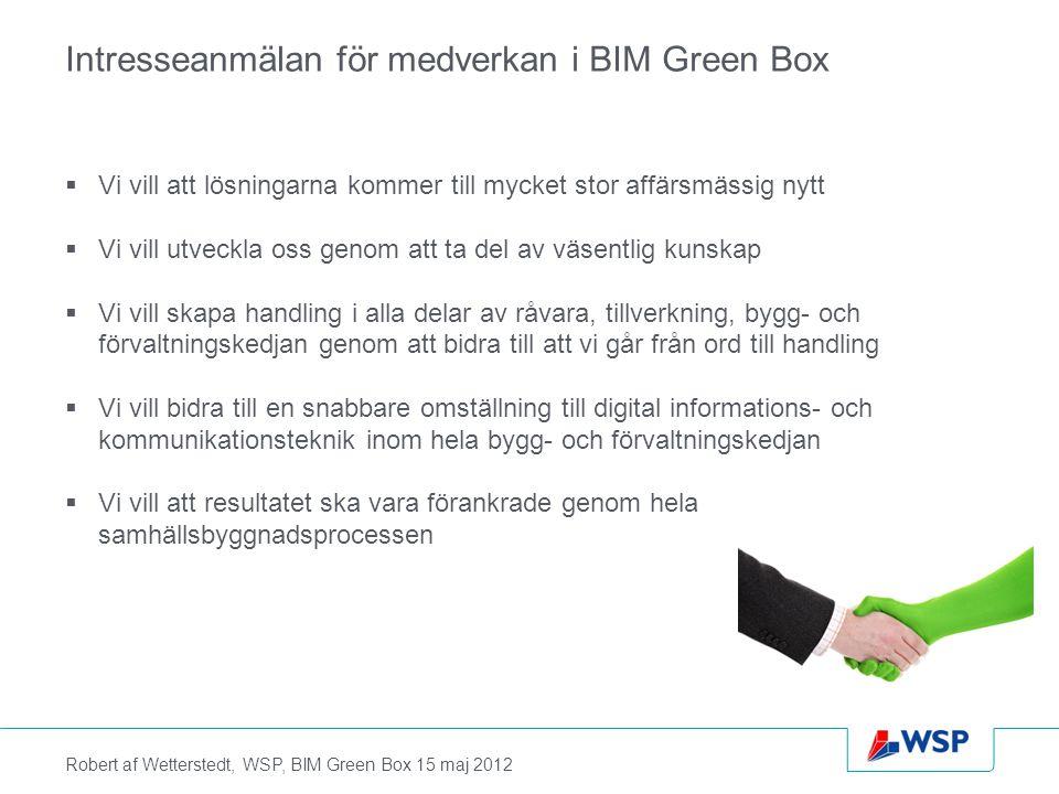 Intresseanmälan för medverkan i BIM Green Box