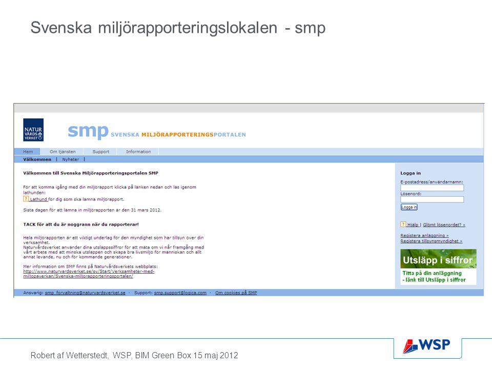 Svenska miljörapporteringslokalen - smp