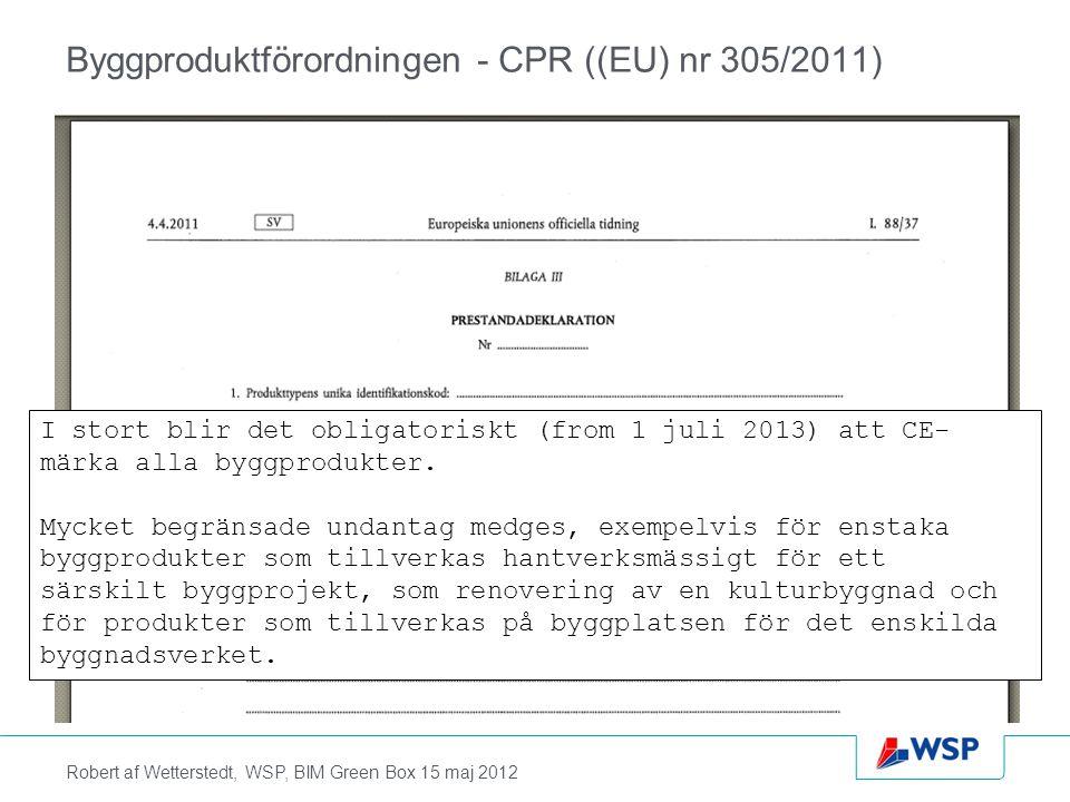 Byggproduktförordningen - CPR ((EU) nr 305/2011)