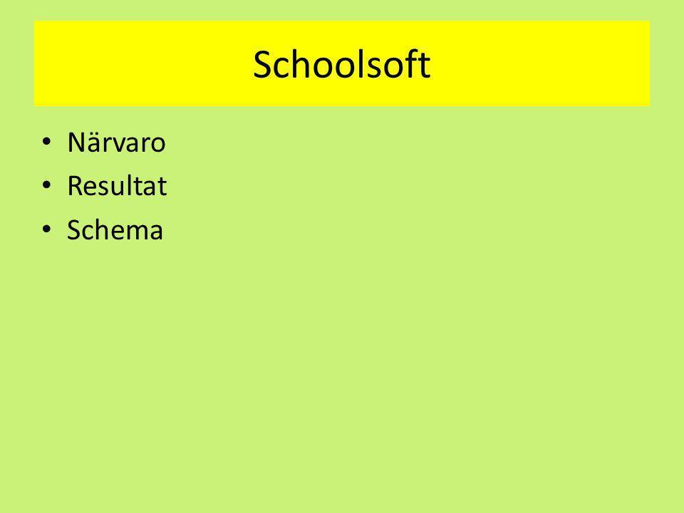 Schoolsoft Närvaro Resultat Schema