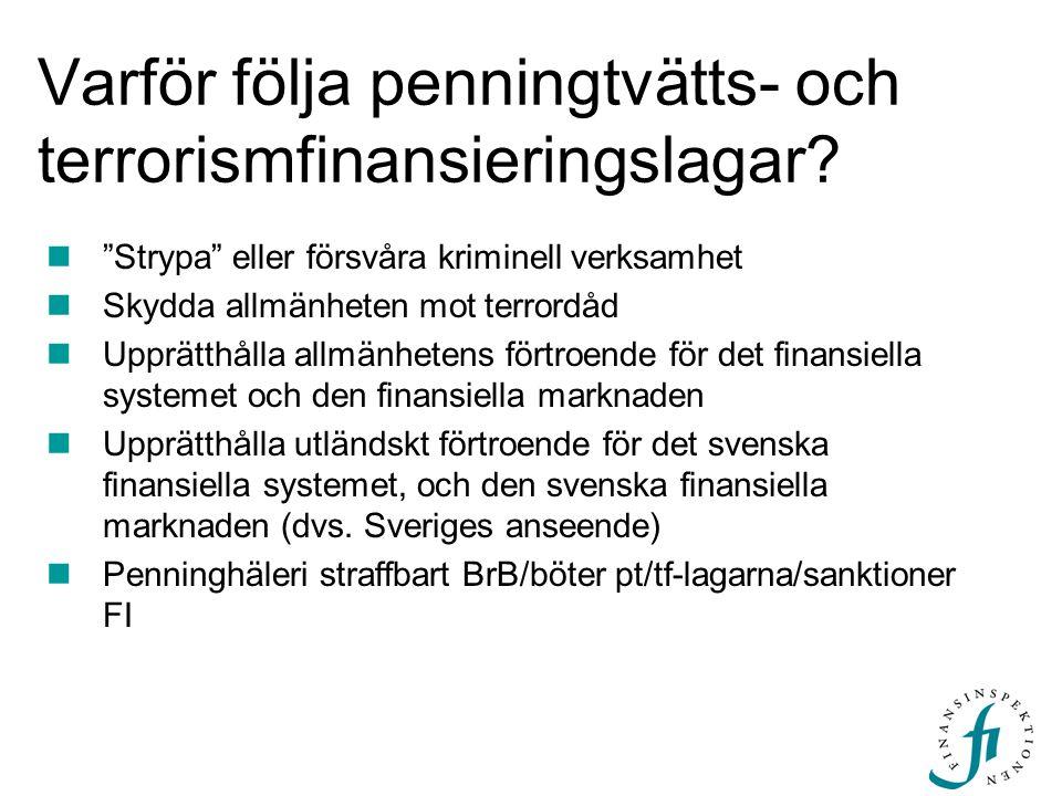 Varför följa penningtvätts- och terrorismfinansieringslagar