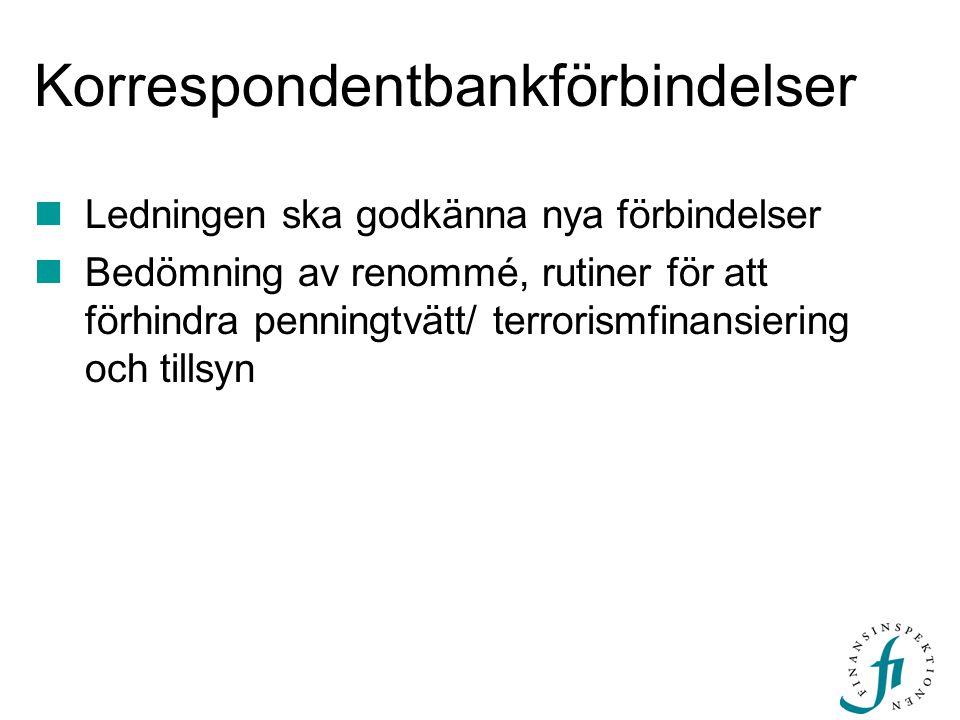 Korrespondentbankförbindelser