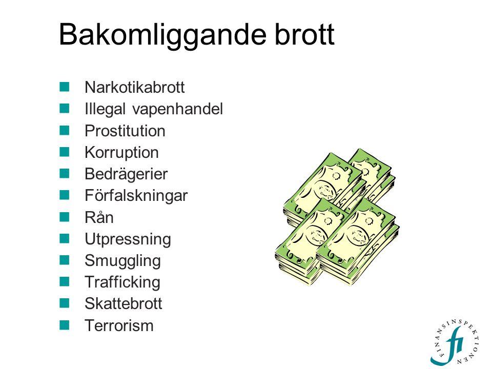 Bakomliggande brott Narkotikabrott Illegal vapenhandel Prostitution