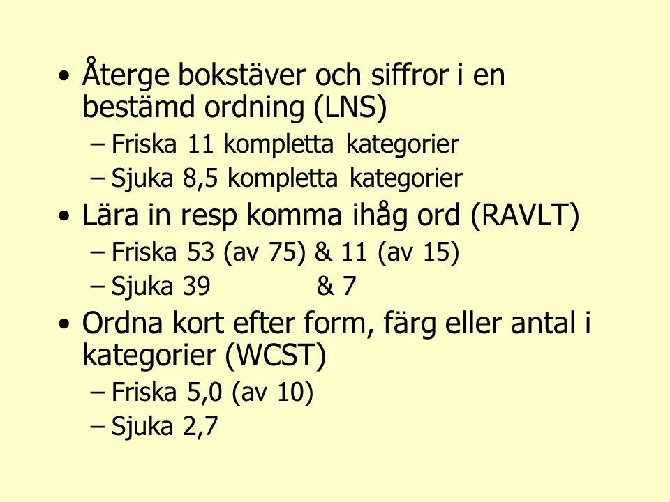 Återge bokstäver och siffror i en bestämd ordning (LNS)