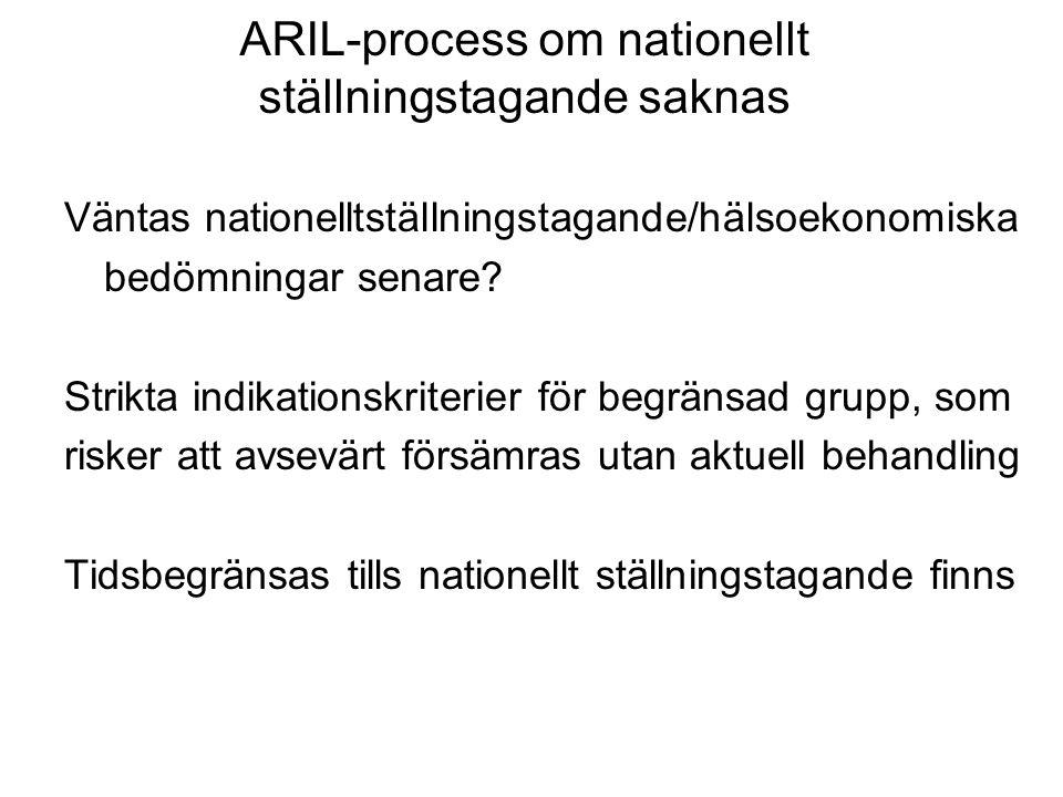 ARIL-process om nationellt ställningstagande saknas