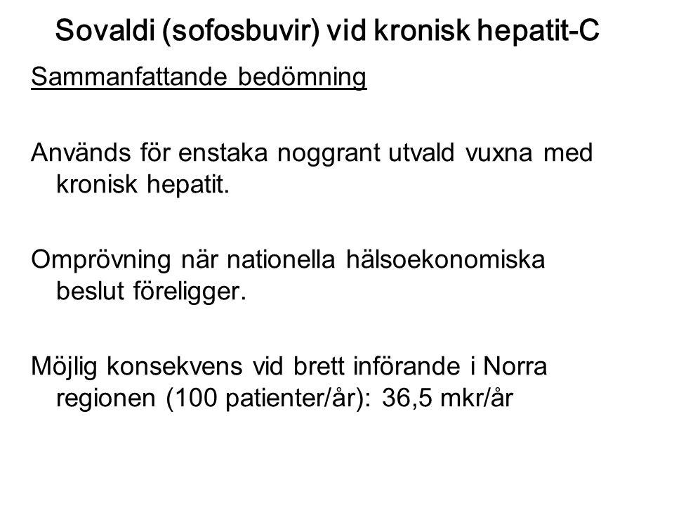 Sovaldi (sofosbuvir) vid kronisk hepatit-C
