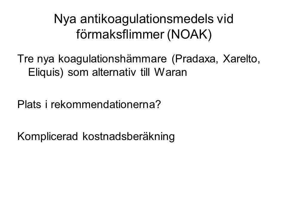 Nya antikoagulationsmedels vid förmaksflimmer (NOAK)