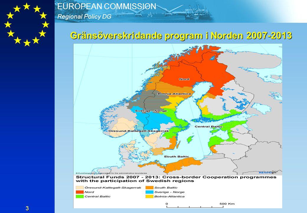 Gränsöverskridande program i Norden 2007-2013