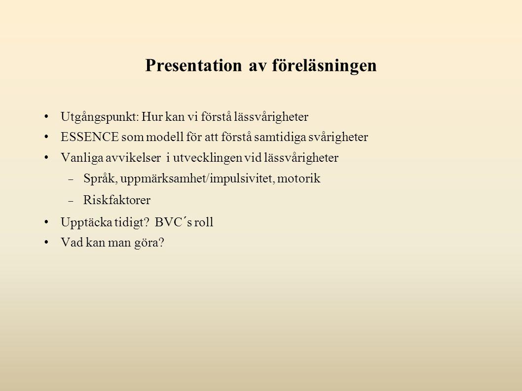 Presentation av föreläsningen