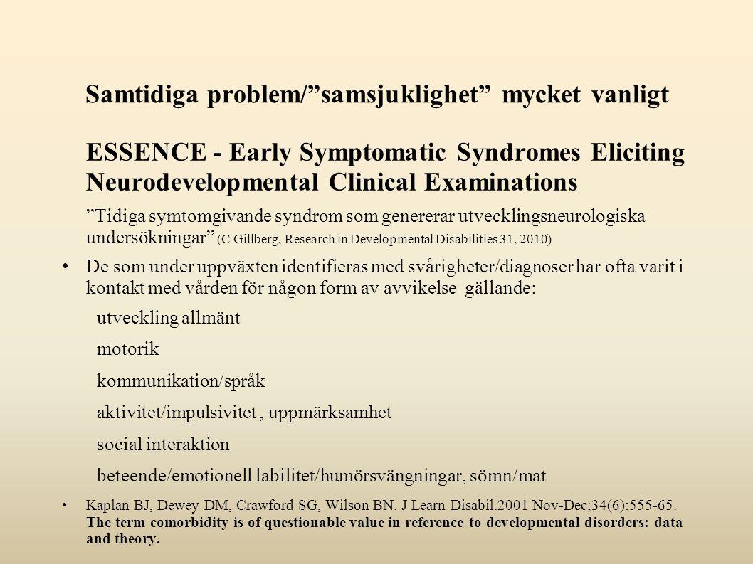Samtidiga problem/ samsjuklighet mycket vanligt