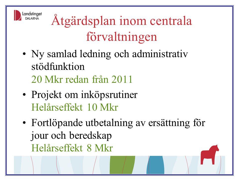 Åtgärdsplan inom centrala förvaltningen