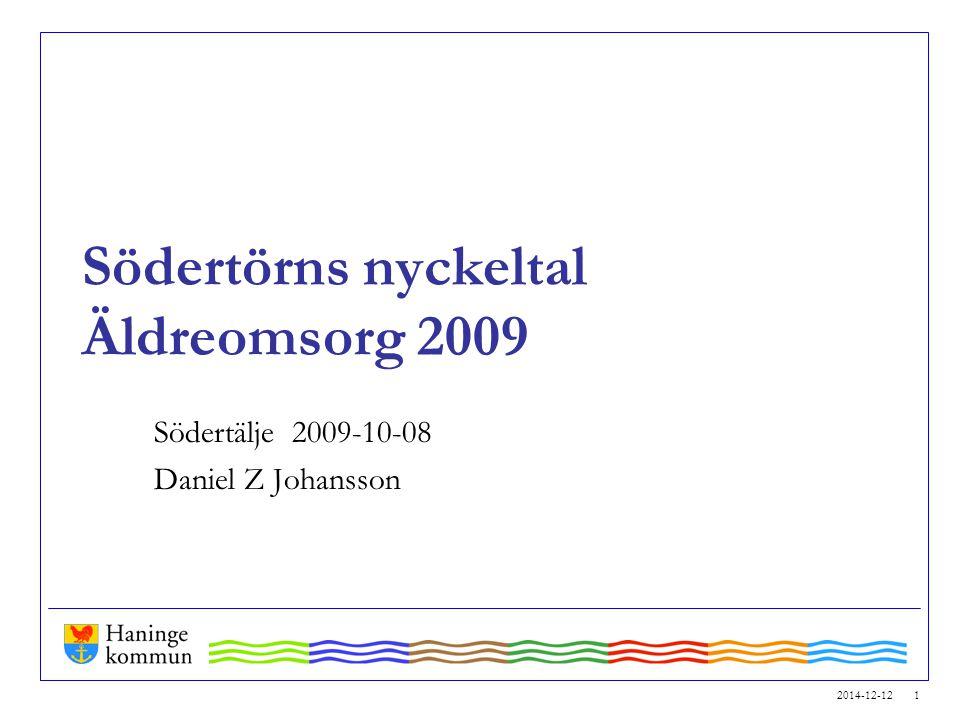 Södertörns nyckeltal Äldreomsorg 2009