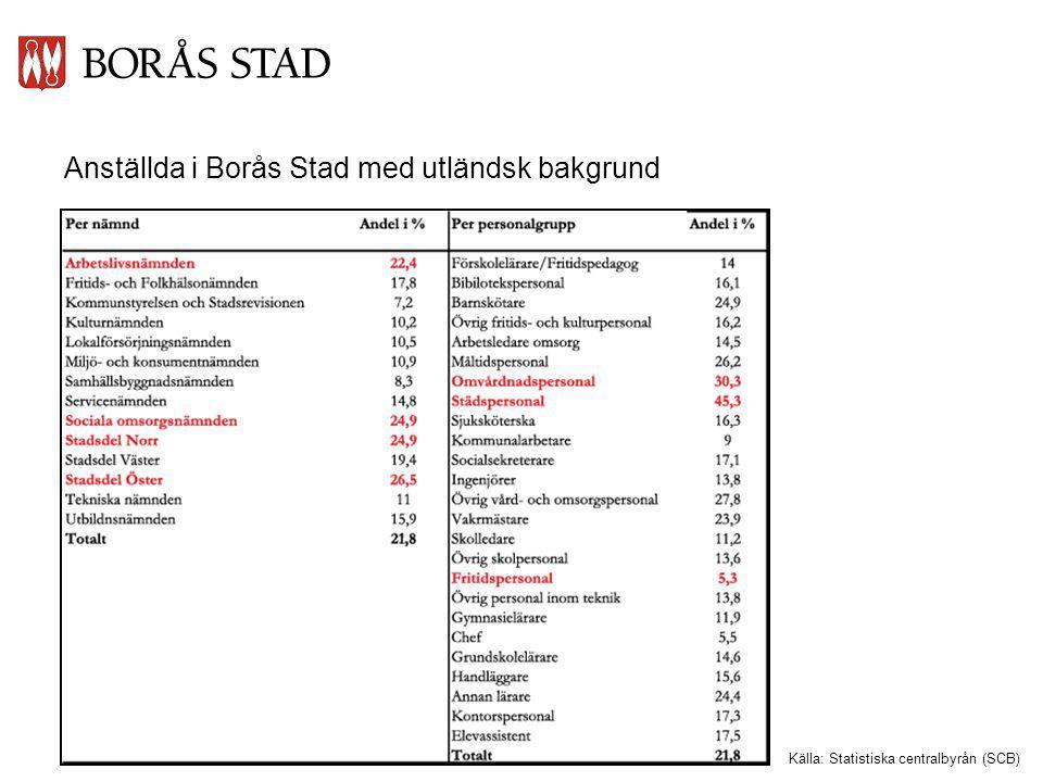 Anställda i Borås Stad med utländsk bakgrund
