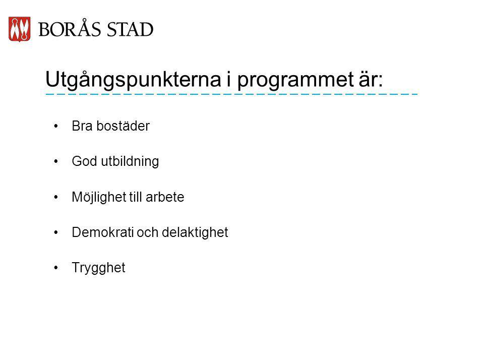 Utgångspunkterna i programmet är: