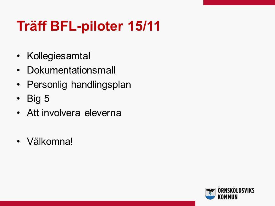 Träff BFL-piloter 15/11 Kollegiesamtal Dokumentationsmall