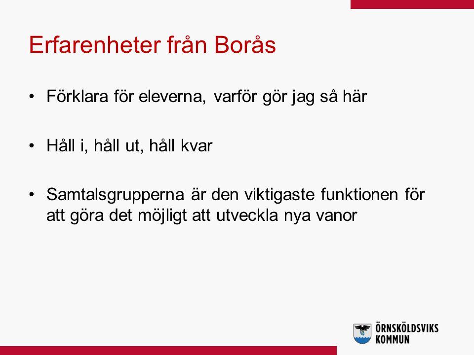 Erfarenheter från Borås
