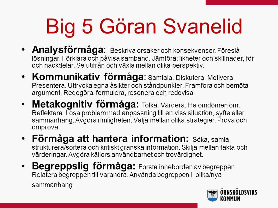 Big 5 Göran Svanelid
