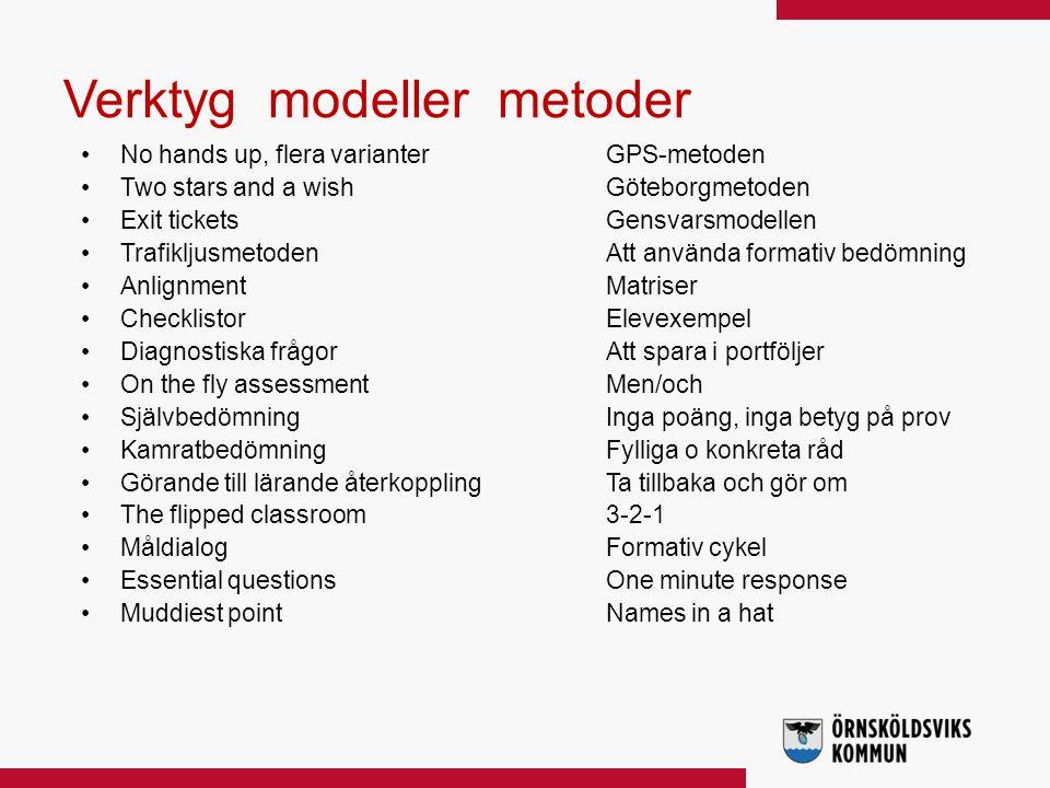 Verktyg modeller metoder