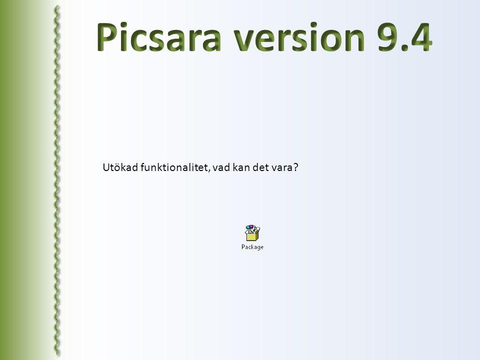 Picsara version 9.4 Utökad funktionalitet, vad kan det vara