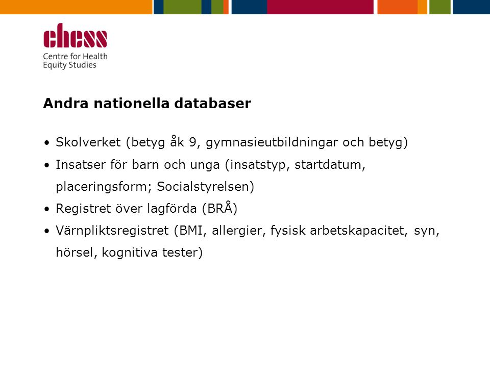 Andra nationella databaser