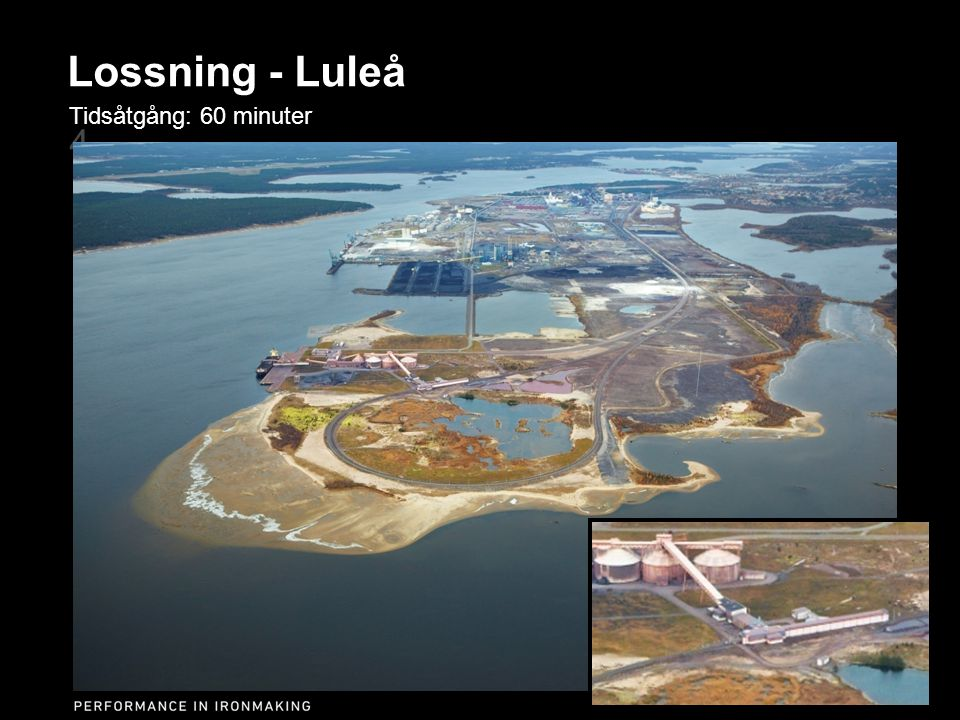 Lossning - Luleå Dick Carlsson 2014-05-06 4 Tidsåtgång: 60 minuter
