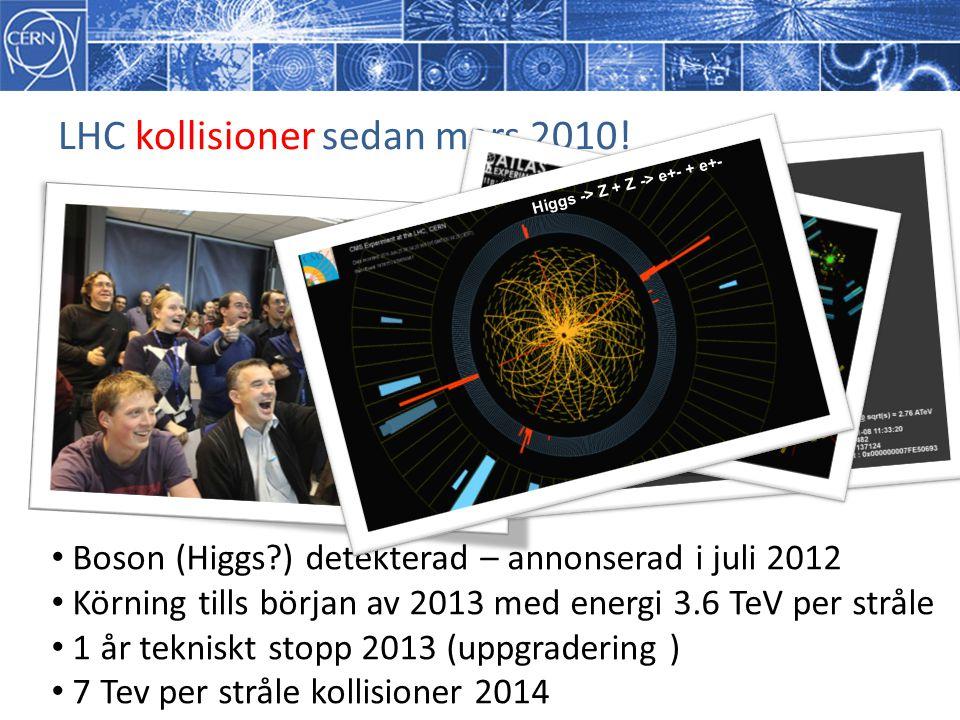 LHC kollisioner sedan mars 2010!