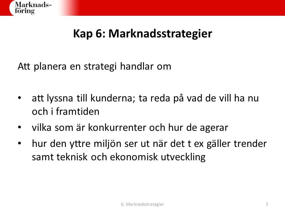 Kap 6: Marknadsstrategier