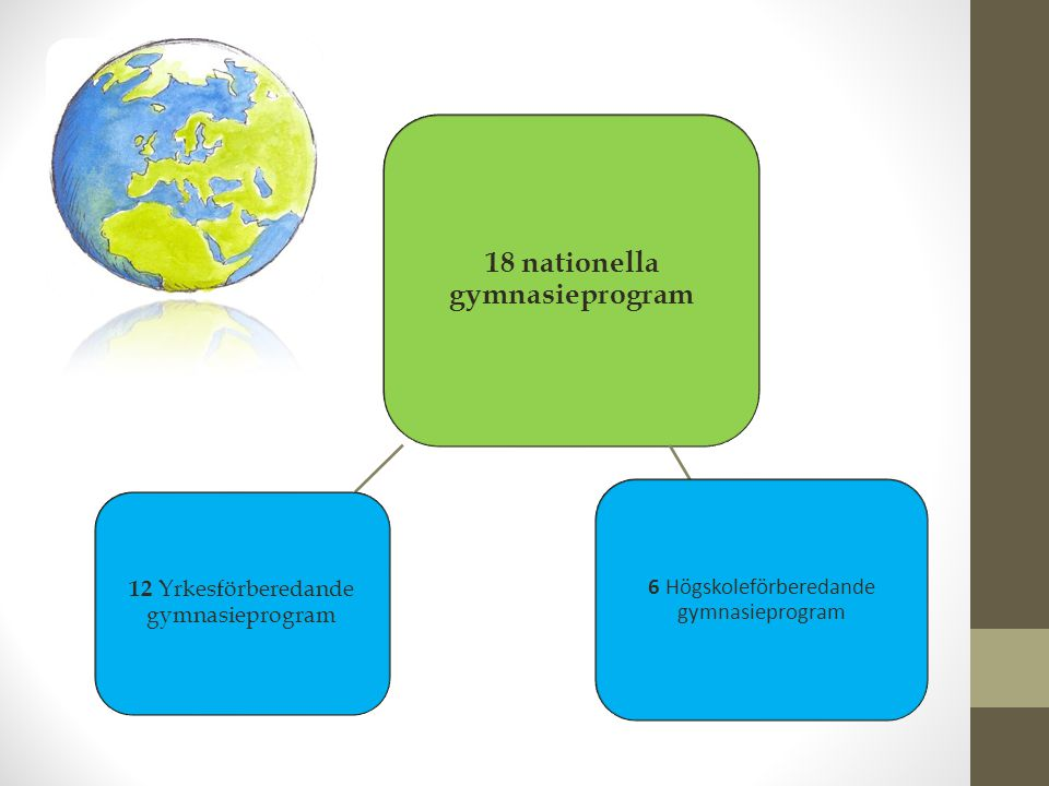 18 nationella gymnasieprogram