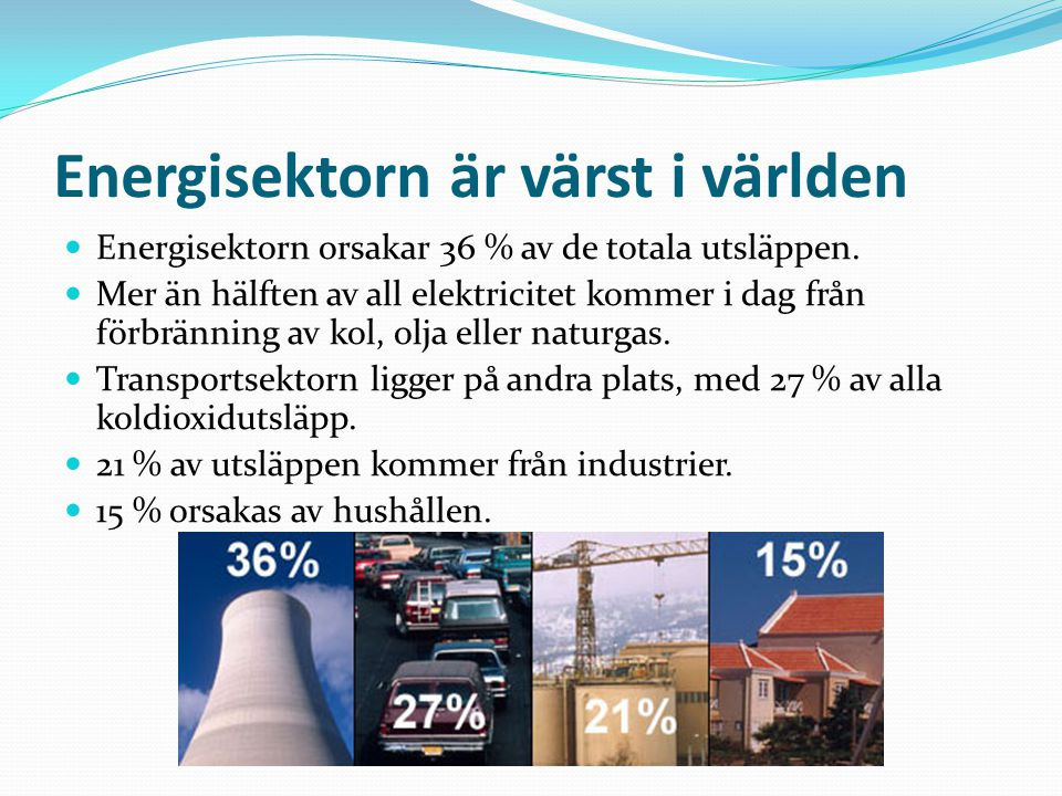 Energisektorn är värst i världen