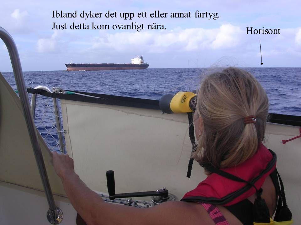 Ibland dyker det upp ett eller annat fartyg.