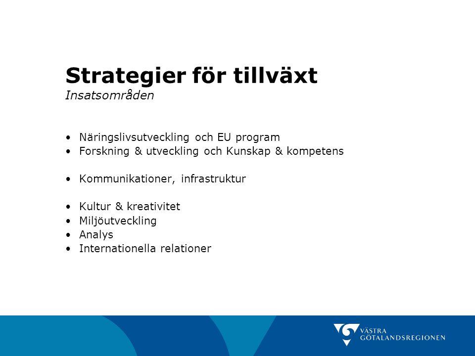 Strategier för tillväxt Insatsområden
