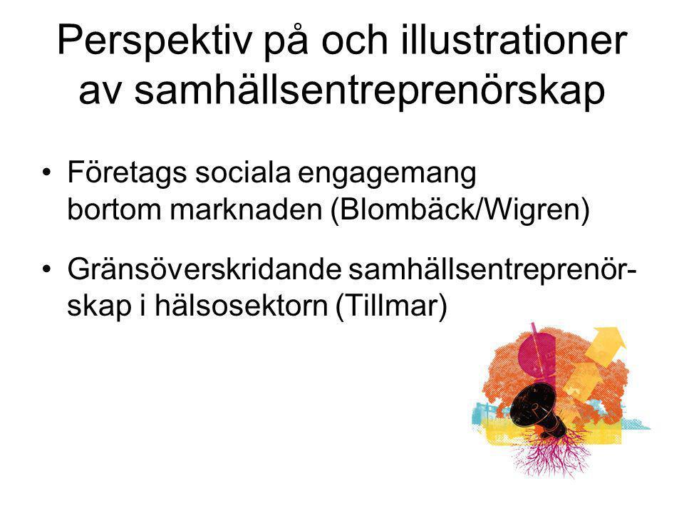 Perspektiv på och illustrationer av samhällsentreprenörskap