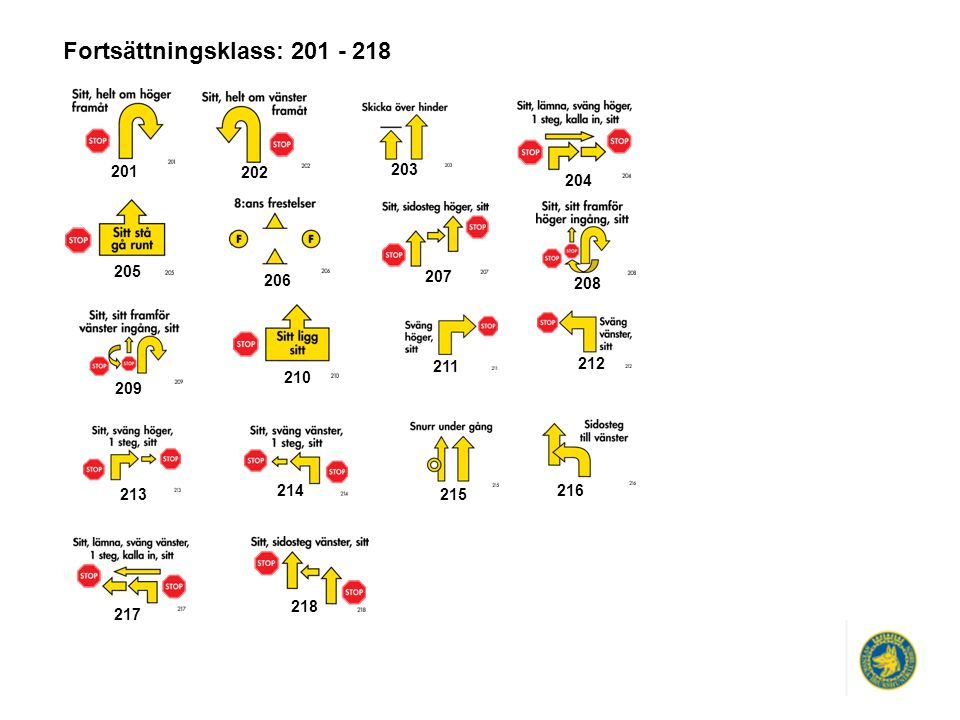 Fortsättningsklass: 201 - 218