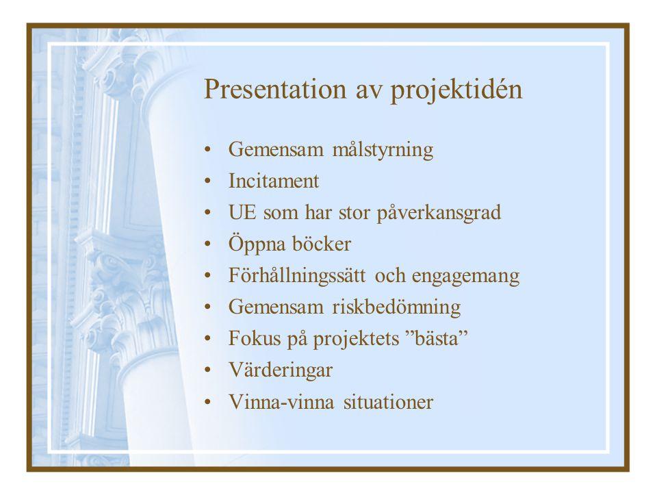 Presentation av projektidén