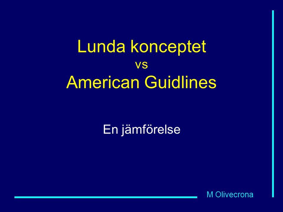 Lunda konceptet vs American Guidlines