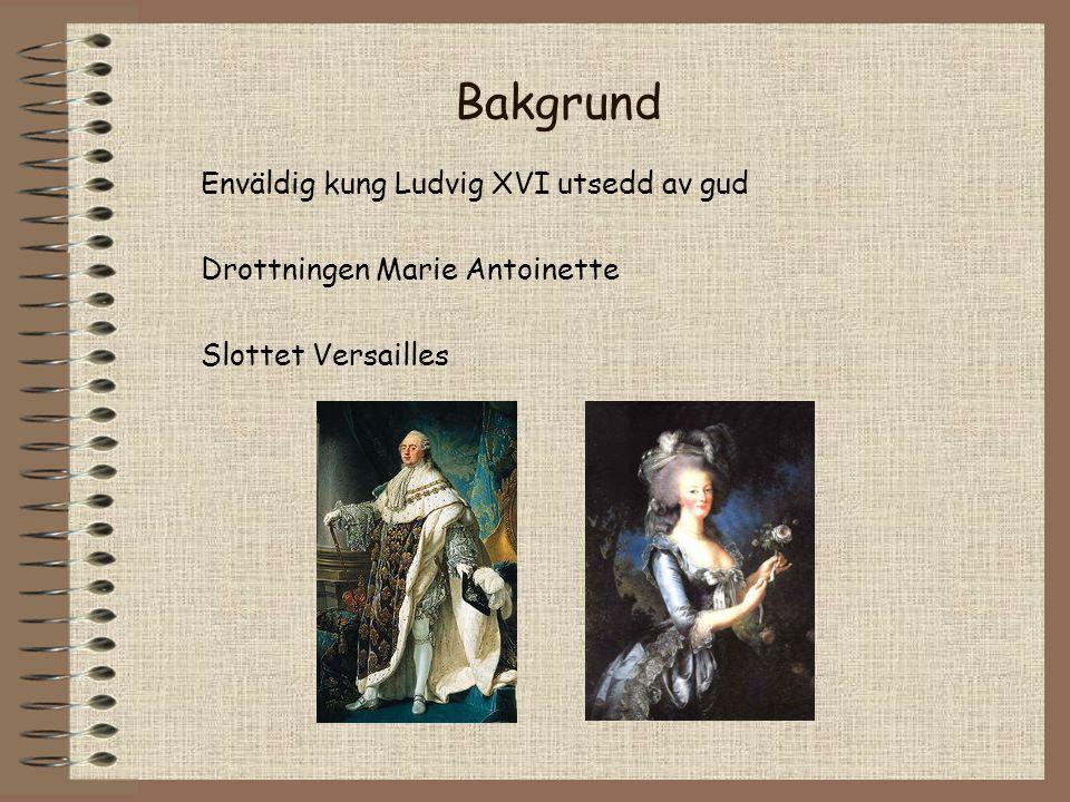 Bakgrund Enväldig kung Ludvig XVI utsedd av gud