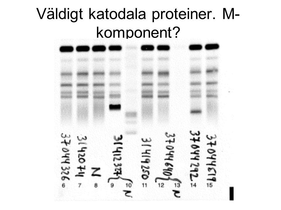 Väldigt katodala proteiner. M-komponent