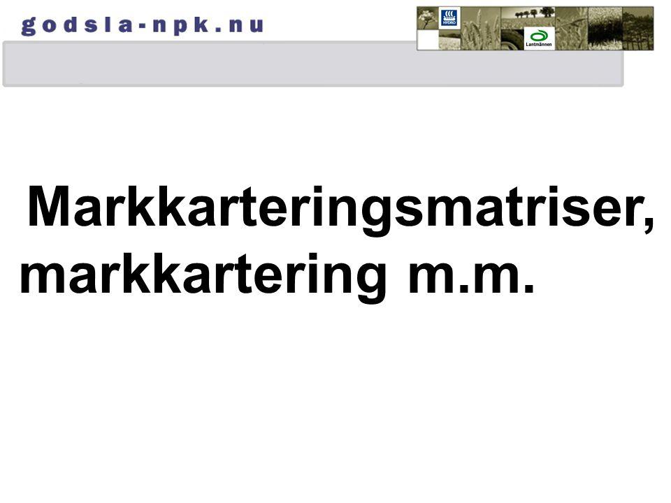 Markkarteringsmatriser,