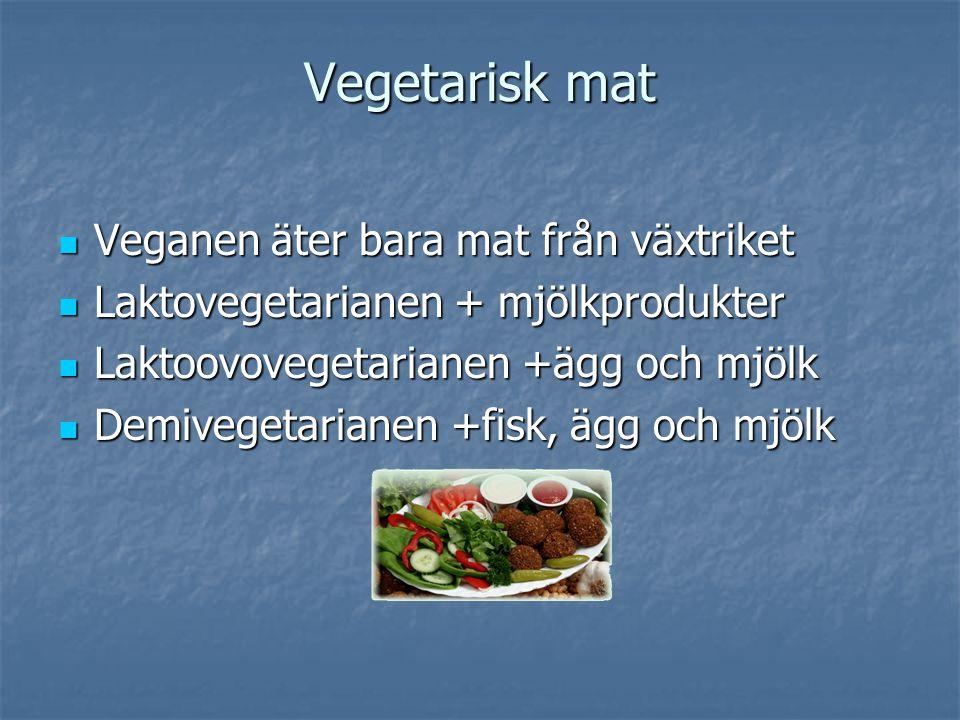 Vegetarisk mat Veganen äter bara mat från växtriket