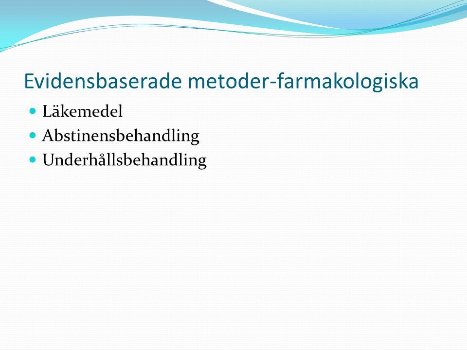Evidensbaserade metoder-farmakologiska