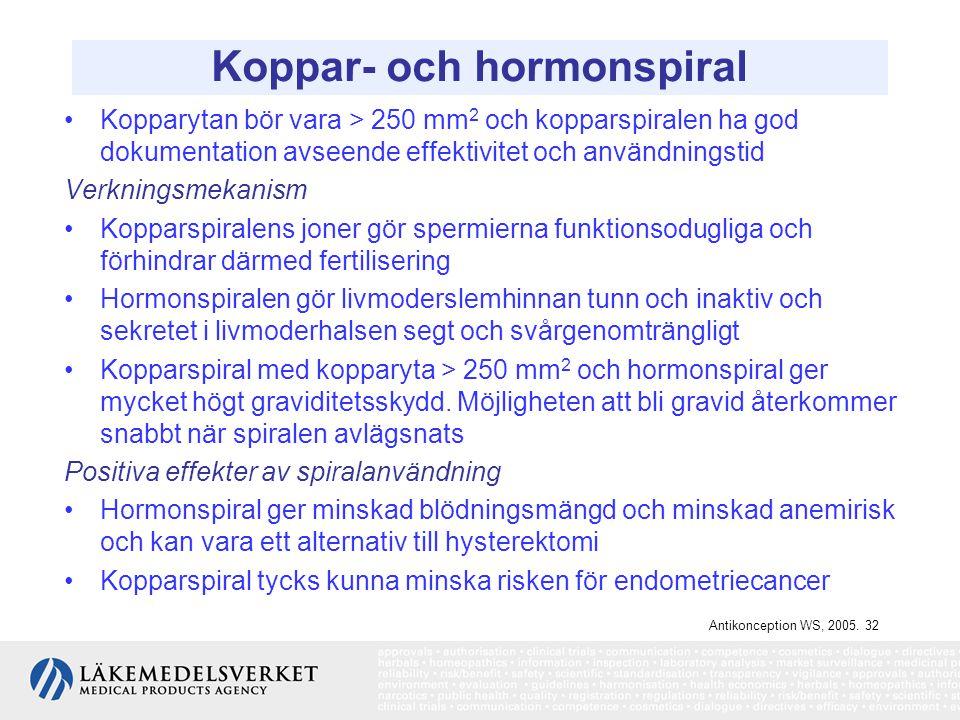 Koppar- och hormonspiral