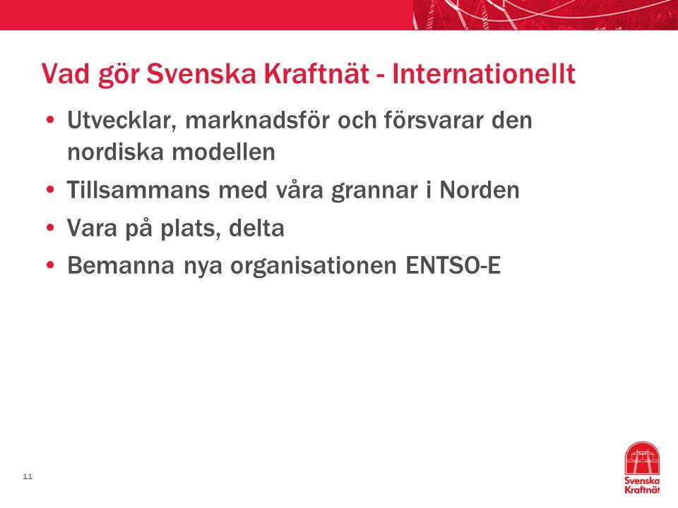 Vad gör Svenska Kraftnät - Internationellt