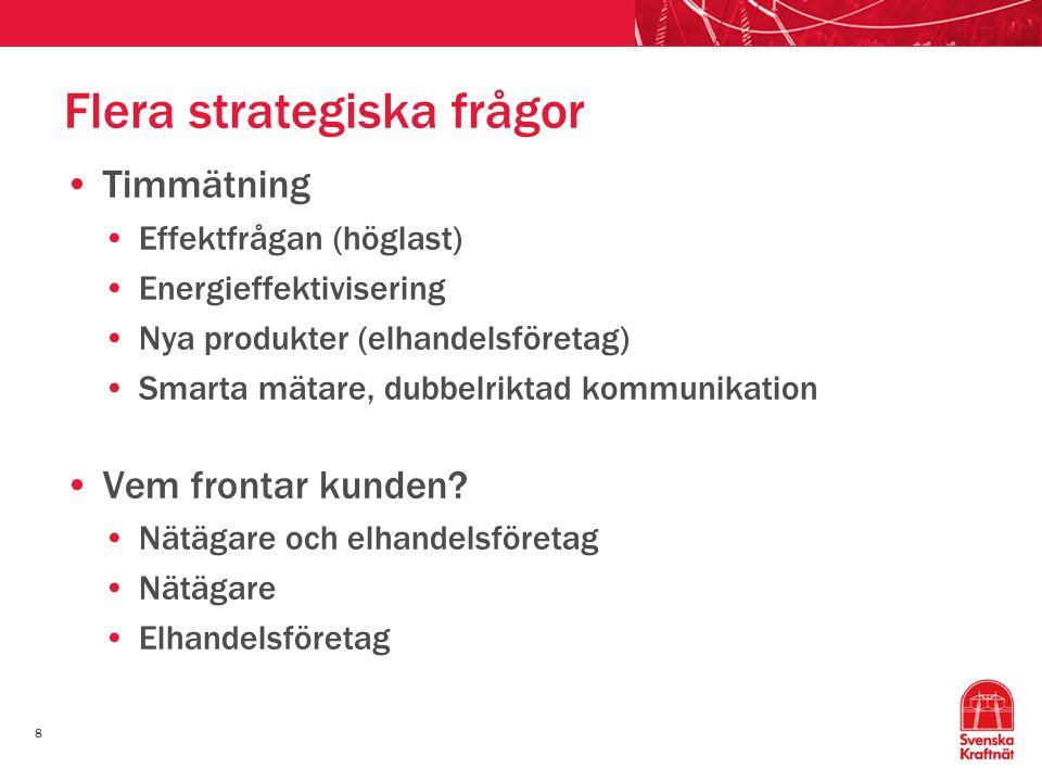 Flera strategiska frågor