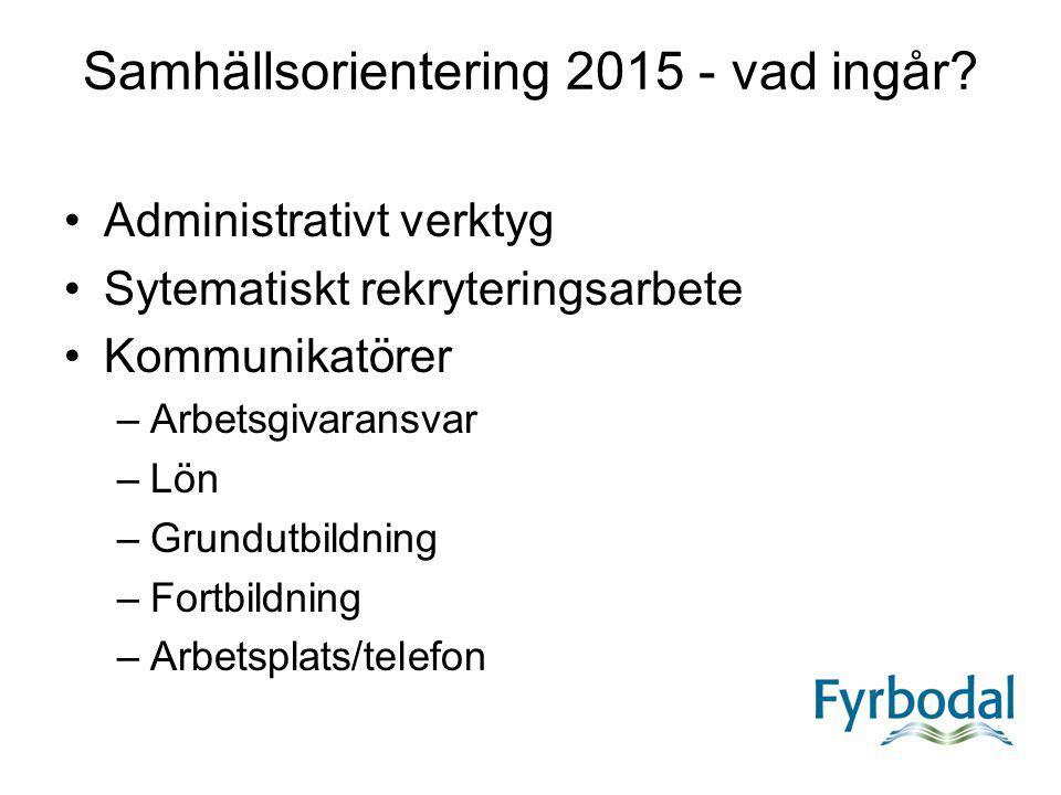 Samhällsorientering 2015 - vad ingår